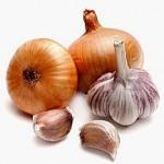 Raw Onions and Garlic